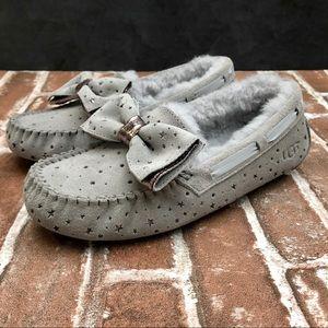 UGG Dakota Stargirl Grey Moccasins Slippers